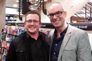 Colin Mulhern is an old friend who happens to have two books of his own on the shelves of Waterstones. Authors Dan Smith and Marie Hannah also turned up to show their support.
