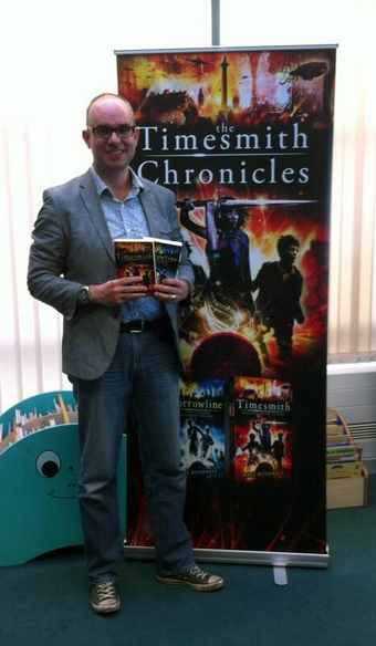 Author Niel Bushnell at Doncaster Library